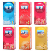 Wholesale 10 a box Mingliu Brand Natural Latex Condoms For Men Adult Better Sex life Safer Contraception Penis Sleeves ribbed condom Sex toy