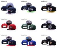 Nuevos sombreros del snapback de la manera Todos los equipos gorras de béisbol para las mujeres de los hombres califican los deportes del casquillo de la cadera sombrero plano del sol del sombrero ajustable Fútbol barato