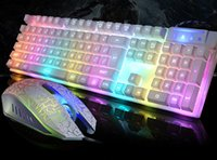 Wholesale Suspension Double color Injection molding Mechanical Touch Keyboard and Mouse Colorful backlight game one special breathing cable suite LOL