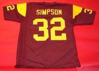 Wholesale NCAA College OJ SIMPSON CUSTOM USC TROJANS JERSEY HEISMAN Mens Stitching football Jerseys