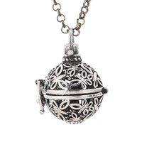 animal perfume - New Fashion Copper Insect Butterfly Hollow Floating Locket Cage Perfume Fragrance Essential Oil Aromatherapy Diffuser Necklace