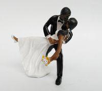 Acheter Style de tango-Tango kiss Couple Cake Topper Décorations de mariage Romantique Touching Story Telling Wedding Cake Décorations 2016 May Style