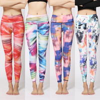 Wholesale 2017 new print yoga pants women tight stretch was thin hip hip casual running fitness shoes feet pants
