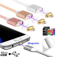 Wholesale DHL A Micro USB Magnetic Charging Metal PC Cable Charger for Android Cell Phone Type C Micro USB Android or Iphone