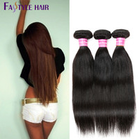 Fastyle Malaysian Straight Weave 5pc / lot Natural Black Dyeable Brazilian Peruvian Indian Unprocessed Virgin Hair Bundles 8-26 Pouces Pas cher