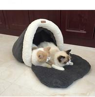 Wholesale Pet Supplies Cat Sleeping Bag Small Dog Sofa Bed Winter Warm Nest Thick Cotton Super Soft Comfortable Detachable Wash