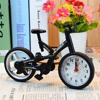 bicycle clocks - Bicycle alarm clock creative bicycle model alarm clock fashion children watch novelty practical student gift