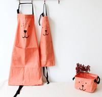 Wholesale 2017 new Super adorable cartoon child simple cotton cotton linen apron parent child Home Furnishing kitchen shop