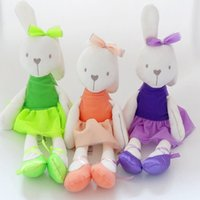 baby plush pillow pets - Cute Stuffed Plush Rabbit Toy Baby Girls Kids Soft Kawaii Toy Children Big Bedding Pillow Baby Girls Bow Dress Pets Toys Birthday Christmas