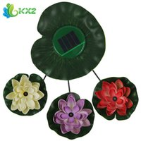 Wholesale Beautiful Flower Solar Power Panel LED Lotus Light Water Floating Light Lamp for Swimming Pool Pond Decoration