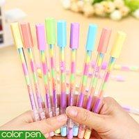 Wholesale rainbow color gel pen in color pens DIY album photo decoration highlighter marker pen stationery