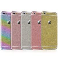 Wholesale Crystal Bling Glitter Sticker Skin Flim Cover Protector Edges Shield for iPhone Edge Front Back Sides Bling Skin Decal Insulation Stick