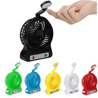 Yes china led lights - Mini Protable Fan with LED Light Multifunctional USB Rechargerable Kids Table Fan Battery Adjustable Speed cool Multi in1 function