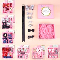 Wholesale Baby Sequin Lace Flower Hairclips Gift Set Bowknot Boutique Hair Bows Hot Girls Barrette Korean Hair Accessories Children s Day Present