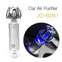 Wholesale Newest Mini V Freshener Ionizer Oxygen Bar Crystal Car Air Purifier JO by DHL