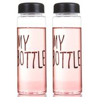 Ma Bouteille Ma Bouteille D'eau Favori BPA FREE Plastic Water Cup Amoureux Portable Choix Pour Sports Outdoor School