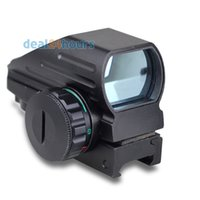 airgun sights - Tactical Reflex Red Green Laser Reticle Holographic Projected Dot Sight Scope Airgun Rifle sight Hunting Rail Mount mm