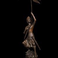 army soldier statue - Arts Crafts Copper Bronze Sculpture soldier sentry statues metal art decor army flag bronze statue souvenirs