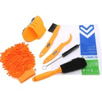 Wholesale 6 Pieces Precision Bike Bicycle Cleaning Brush Tool Kit Set Compact Multipurpose Practical for Mountain Road City Hybrid BMX Bike