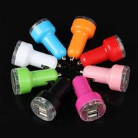 Wholesale Dual USB Car Chargers V A A Port Car Charger For iPhone iPad Cell phones Tablet PC Free DHL