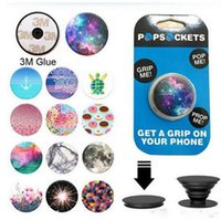 Wholesale 123 designs PopSockets Expanding Stand and Grip for Tablets Stand Bracket Phone Holder Pop Socket M Glue for iPhone Samsung s7 s6