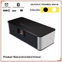 aux power - Bluetooth Wireless Speaker Stereo Super Bass Big Power Subwoofer Loudspeakers USB AUX TF FM Radio Alarm Clock HIFI Speaker