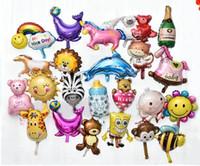Wholesale Top sale cute Pretty Child Aluminium Coating animal Balloon Novelty Gag Toys Kids Birthdays Festival Christmas Party Props