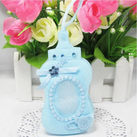 Wholesale New Arrival Blue Pink bottle style Gift Bags Candy Box with sling For Guest Baby Shower Birthday Party Decor Supplies