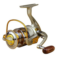 Wholesale 49 Superior Ratio Aluminum Spool Spinning Reel BB EF1000 Series Folding Arm Baitrunner Carp Spinning Reel Fishing
