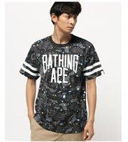ape clothing - 2017 new printing men short sleeve b t shirt brand aap shark print tshirt homme Brand T Shirt ape shark clothing