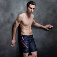 Vente en gros - 2017 Dry Dry Sharkskin Men Swimwear Bretelles de bain Trunks Shorts Costumes de bain New Brand Sports Maillot de bain masculin