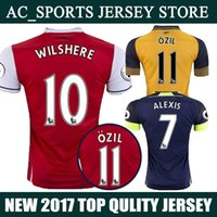arsenal training shirt - 2017 Arsenal Jersey Home Red Away Yellow Third rd Jersey OZIL WILSHERE Shirt Training Uniform High Qualit