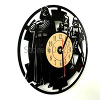 artisan shipping - Piece Creative Stormtrooper Artisan Laser Engraved Wall Clock and Star Wars Darth Vader