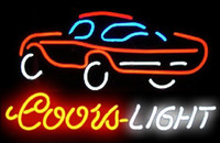 Wholesale Fashion New Handcraft Coors Light Car Real Glass Tubes Beer Bar Pub Display neon sign x15 Best Offer