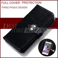 apple pages - Wallet Case For Iphone plus Case Wallet PU Leather Case Cover Pouch WithThree Pages Design