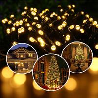 Wholesale 12M LEDS Outdoor Led Christmas Lights Waterproof LED Solar String Light Fairy Lights For Outdoor Garden Party Christmas Lights