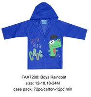 Wholesale UK Brand Rock a Bye Baby Lovely Cute Fashion Soft Comfortable Baby Rain Coat Hat Red Blue Washable Warm Print Easy to wear