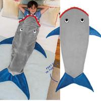 Wholesale Kids Mermaid Tail Blanket Sleeping Bag Shark Crystal Wool Warm Sleep sacks Mermaid Tail Fleece Blankets Soft Blankets color