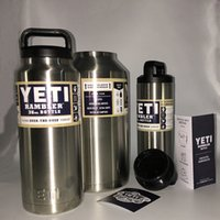 Wholesale Yeti Cups Flask Coolers Mugs Tumbler oz Water Bottle with Handgrip Fashion Stainless Steel Drinkware