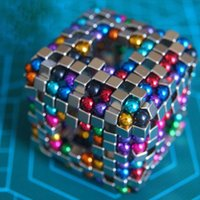 Wholesale Free DHL mm Strong Magnetic Balls Cubes Sphere Neodymium Magnets Puzzle Adult Toys Spheres Beads Magic Cube Toys With Metal Box