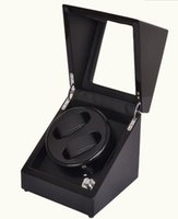 automatic watch winder case - Leather Automatic Rotation Watch Winder Storage Case Display Box Black for watches mm