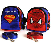 backpacks school clothes - S M L Cartoon Traveling Pet Dog Bag Dog Clothes Carrier Tote Bag Puppy School Backpack Harness With Leash Outdoor