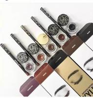Дешевый Заливочных горшки-24pcs НОВЫЕ Kylie косметику Дженнер Kyliner В черный / коричневый / ХАМЕЛЕОН Kyliner Kit с верхним качеством Гель Eyeliner Brush горшок