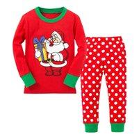 bebe kids characters - Christmas Pyjamas Kids Clothing Sets Deer Santa Claus Snowman Pajamas for Boys Girls Pyjamas Bebe Baby Infant Sleeper Children s Sleepwear
