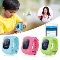 al por mayor relojes de realizar un seguimiento de los niños-Cheape Sales Q50 Anti Perdidos GPS Kid Tracker Niños Monitor SIM Tracking Device Smart Watch