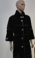 Wholesale New Winter Women Parka Shearling Fur Coat with Real Mink collar For Women