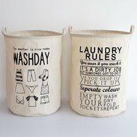 bathroom clothes hampers - Folding Cheap Laundry Basket Hamper for Dirty Cloth Bathroom Dirty Cloth Basket Cotton Linen Fabric Household eco bag