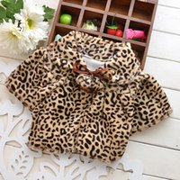 Wholesale Winter Leopard fur coat children outerwear Fashion leopard print cape girl winter outfits warm clothing