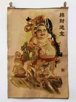 Wholesale Tibet Collectable Silk Hand Painted Maitreya auspicious fengshui Thangka living room