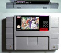 Wholesale SNES Game card RPG Game Dragon Quest V